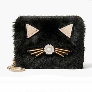 Kate Spade Cat Brighton Lane Fuzzy Wallet